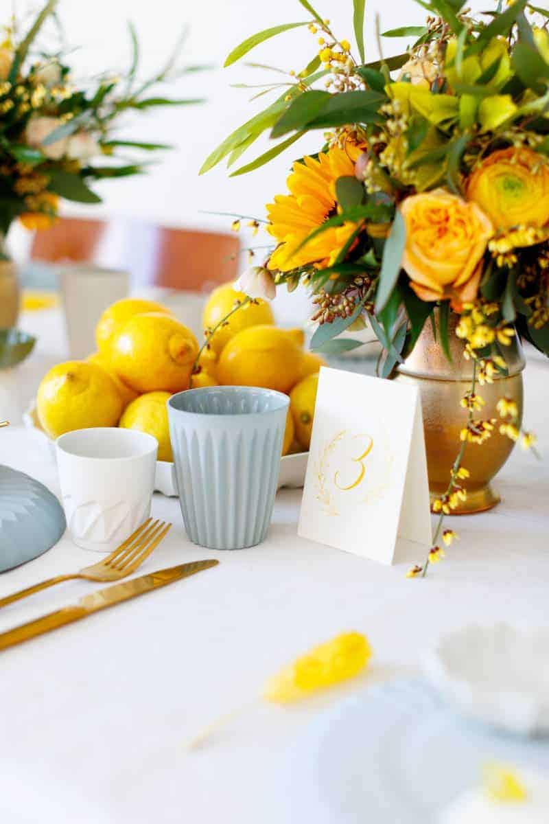 lemon yellow wedding ideas for spring bespokebride