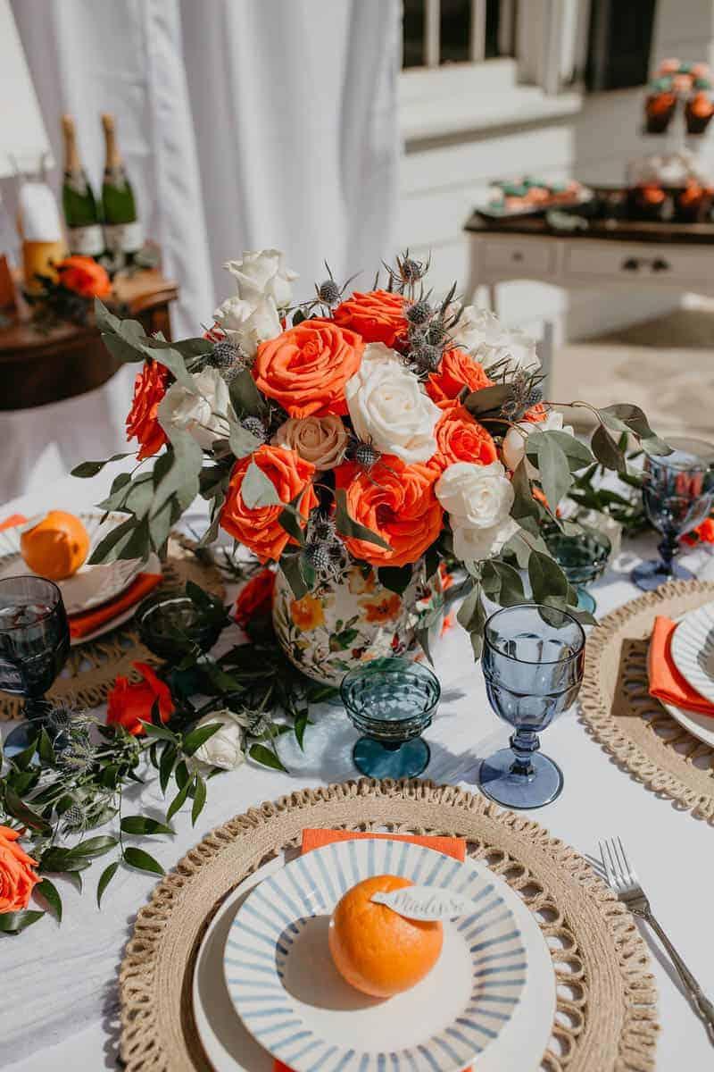 ORANGE & BLUE BRIDAL SHOWER IDEA | Bespoke-Bride: Wedding Blog