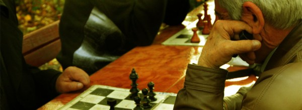 Image of man playing chess