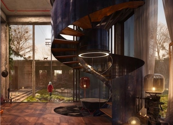 11 Insanely Clever Loft Stairs Ideas You Can Copy For Your Home   Spiral Staircase For Loft Conversion   Loft Room   Stairwell Low   Narrow   Tight Space   Step By Step