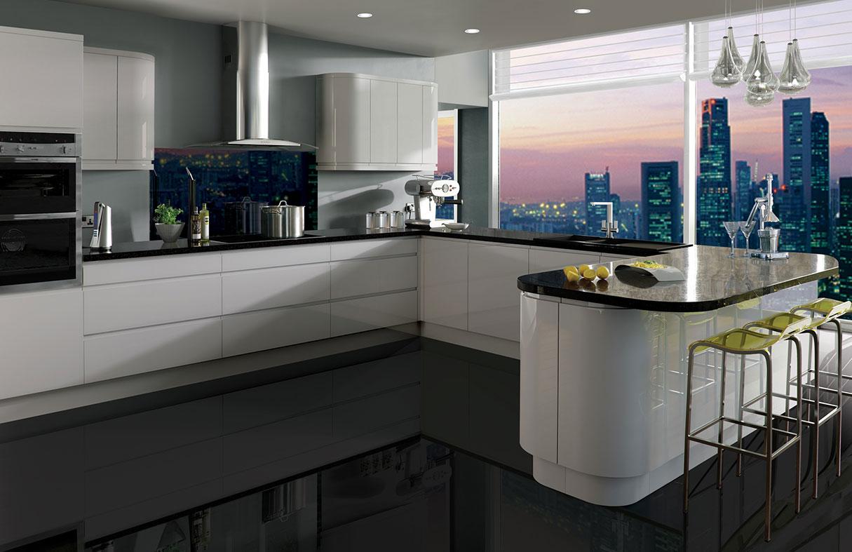Curved Modern Kitchens | Broadway modern kitchen designers on Images Of Modern Kitchens  id=29736