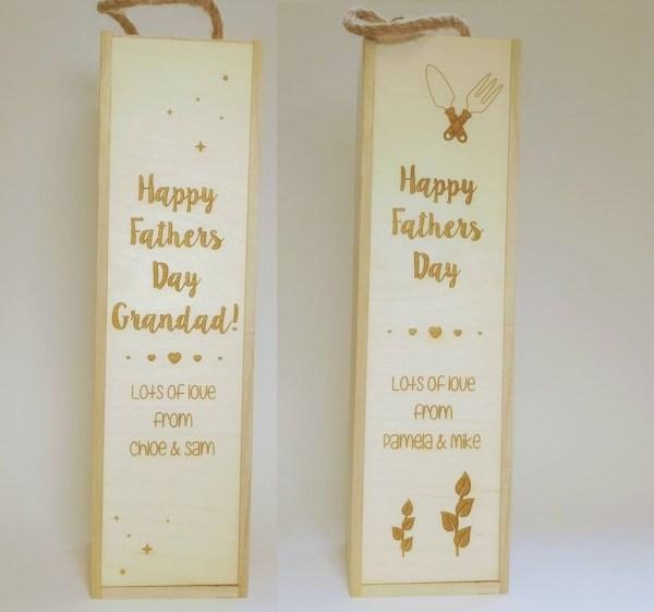 Fathers Day Wine cases - Bespoke Lasercutz Ltd