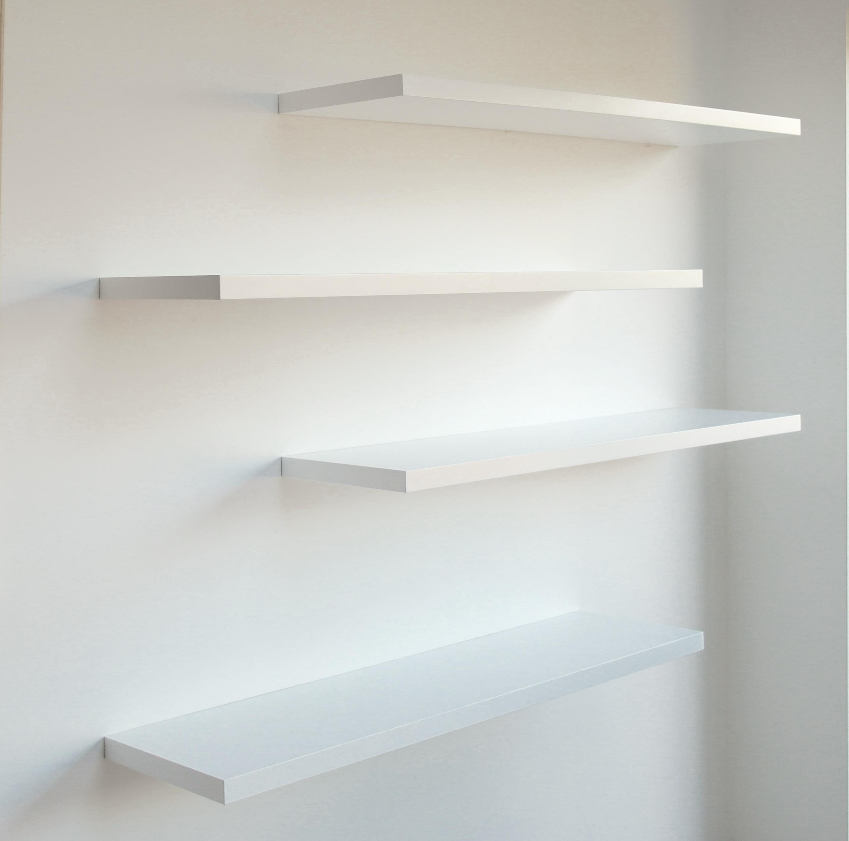 Gallery Of White Floating Shelves Bespoke Nature