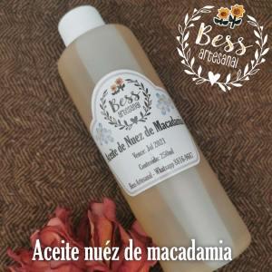 Bess Artesanal - Aceite de nuez de macadamia