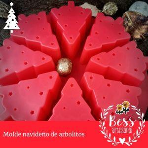 Bess artesanal - Molde de arbolitos de navidad