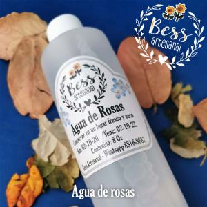 Bess Artesanal - Agua de rosas