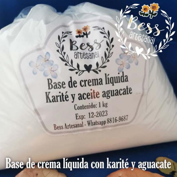 Bess Artesanal - Base de crema líquida con karité y aceite de aguacate