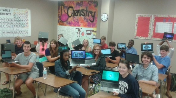 Class of 2015 shows off their Google Chromebooks
