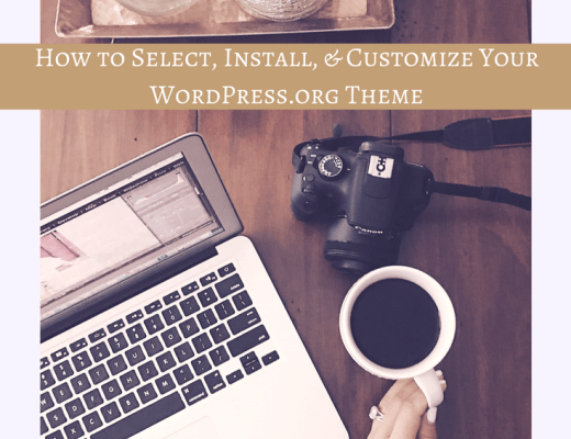 How to Select, Install, Customize Your WordPress.org Theme