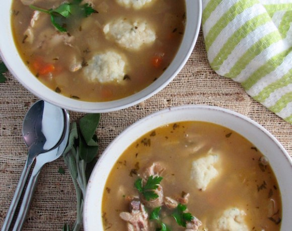 Apple and Chicken Dumpling Soup