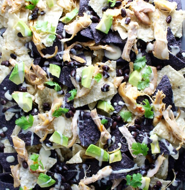chipotle chicken nachos sheetpan