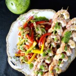 grilled shrimp fajita vegetables
