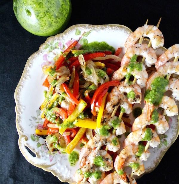 grilled shrimp fajita vegetables
