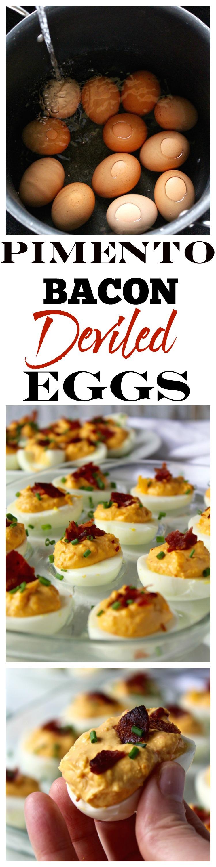 pimento bacon deviled eggs