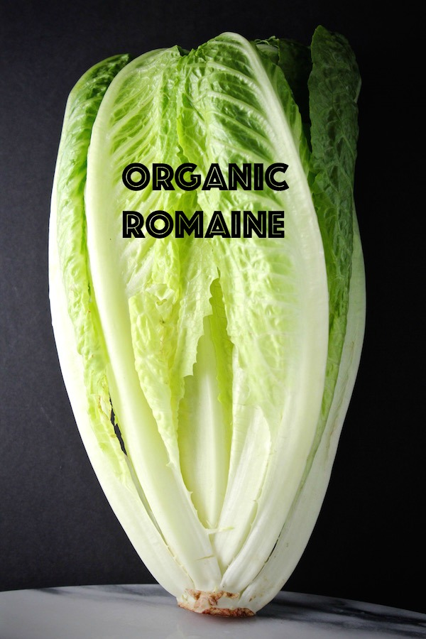 romaine lettuce with text