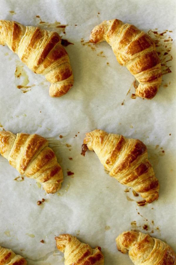 croissants baked overhead