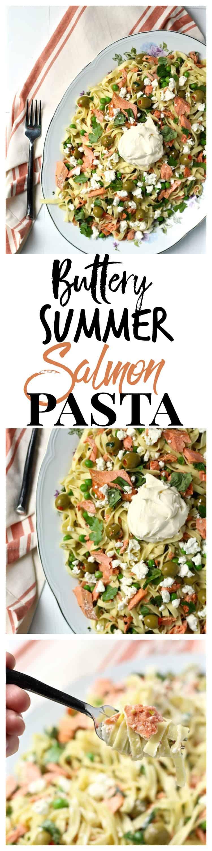 buttery summer salmon pasta