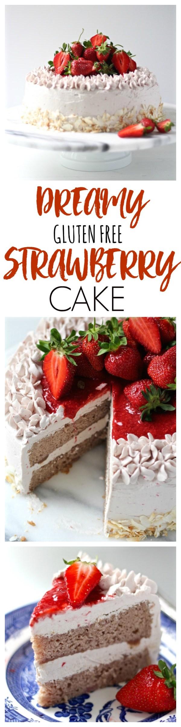 gluten free strawberry cake pinterest