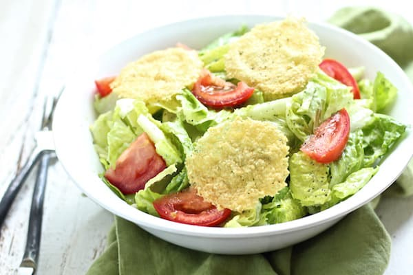 Healthy caesar salad with herbed yogurt caesar dressing is so healthy and satisfying!