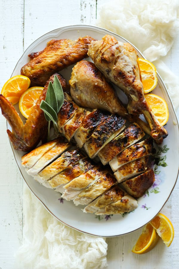 Epic duck fat roasted turkey recipe with essence of orange and fresh sage
