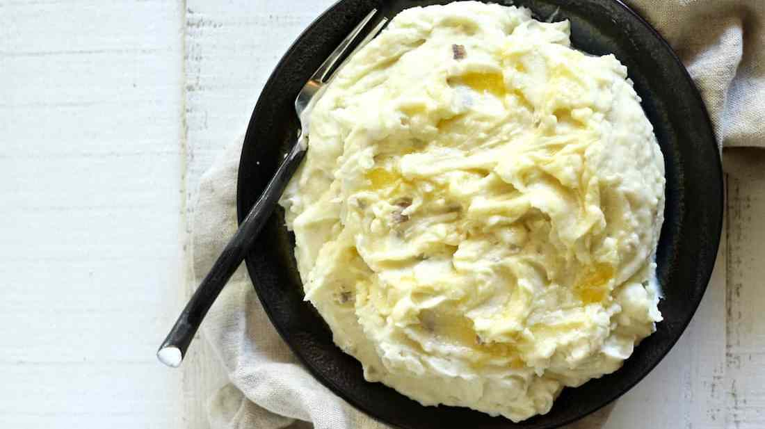 Creme fraiche mashed potatoes recipe