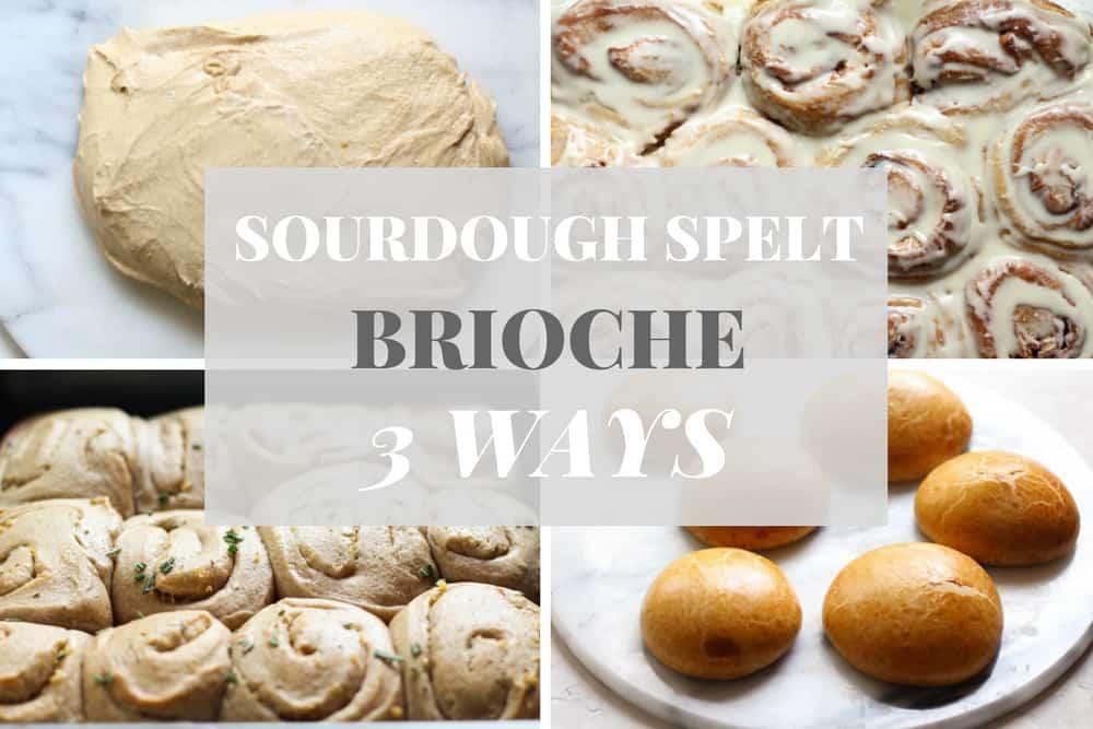 SOURDOUGH SPELT BRIOCHE 3 WAYS | CINNAMON ROLLS, GARLIC ROLLS, HAMBURGER BUNS