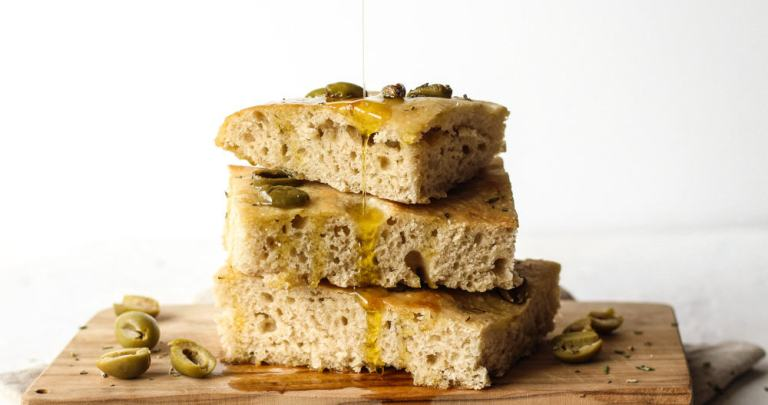 SOURDOUGH FOCACCIA | OLIVES & ROSEMARY RECIPE & VIDEO
