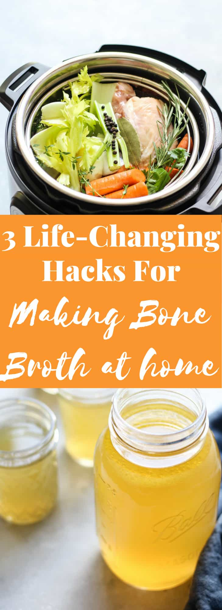 How to make Bone Broth Recipe with life-changing hacks pinterest