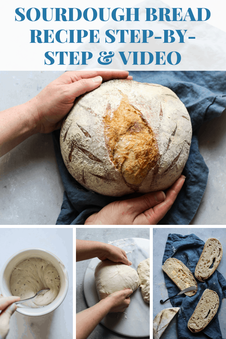 Sourdough bread recipe step by step photos with video instruction