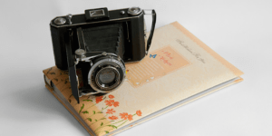 Old Fashioned Camera & Album