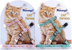 Niteangel Adjustable Cat Harness And Leash Set