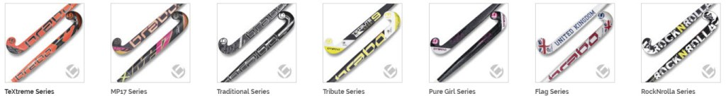 Brabo Senior field hockey stick range