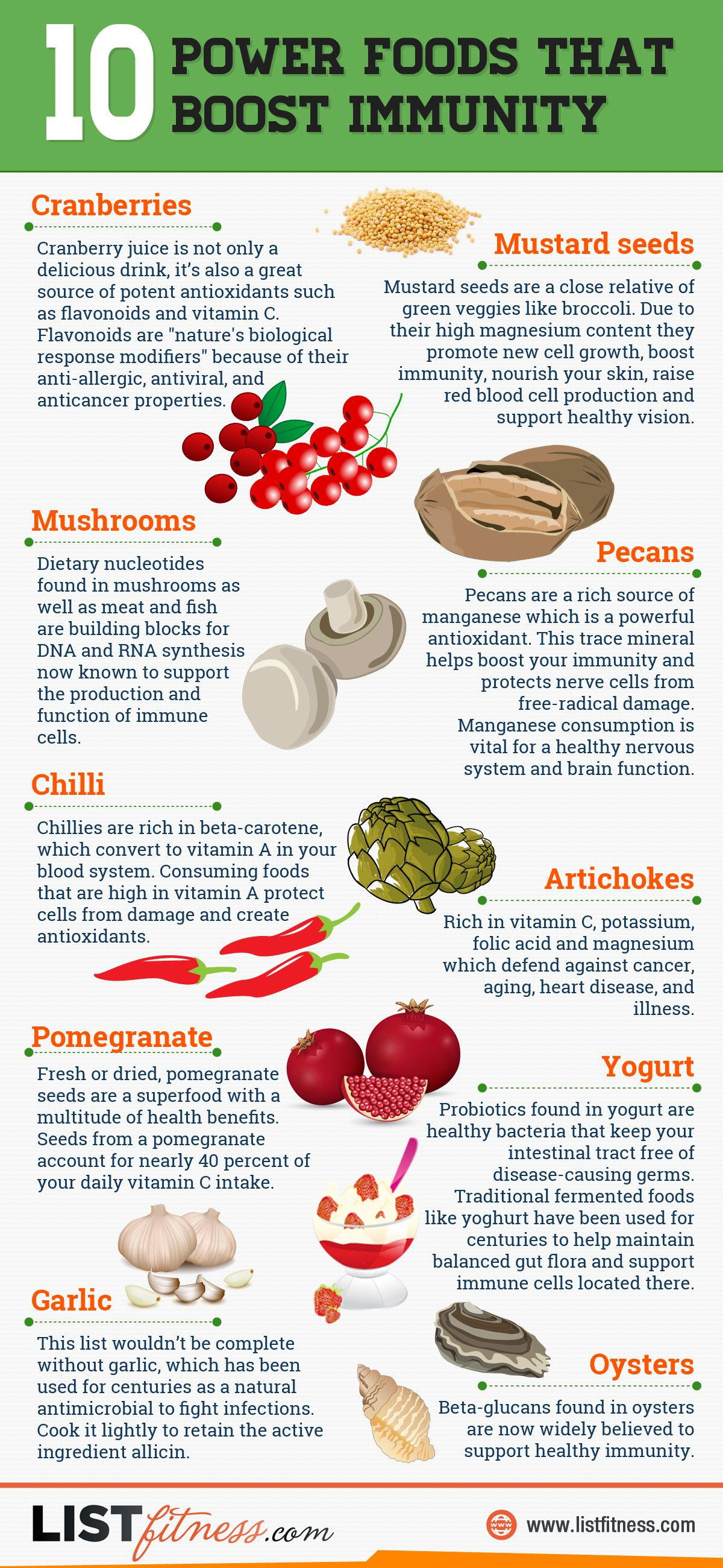 10 Foods That Boost Your Immune System Infographic
