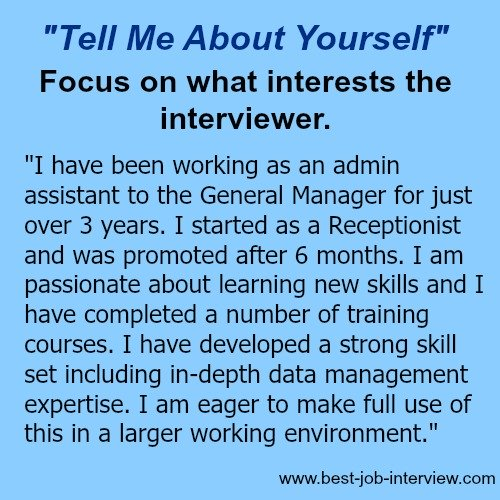tell us about yourself essay Job interview questions about your personality are an opportunity to set yourself apart from the crowd how would you describe your personality my employees would tell you that i am a fair manager who listens when they have something to say.