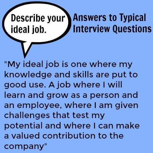Describe your ideal job
