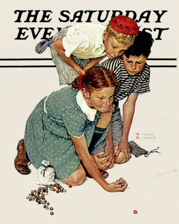 Image result for norman rockwell marbles
