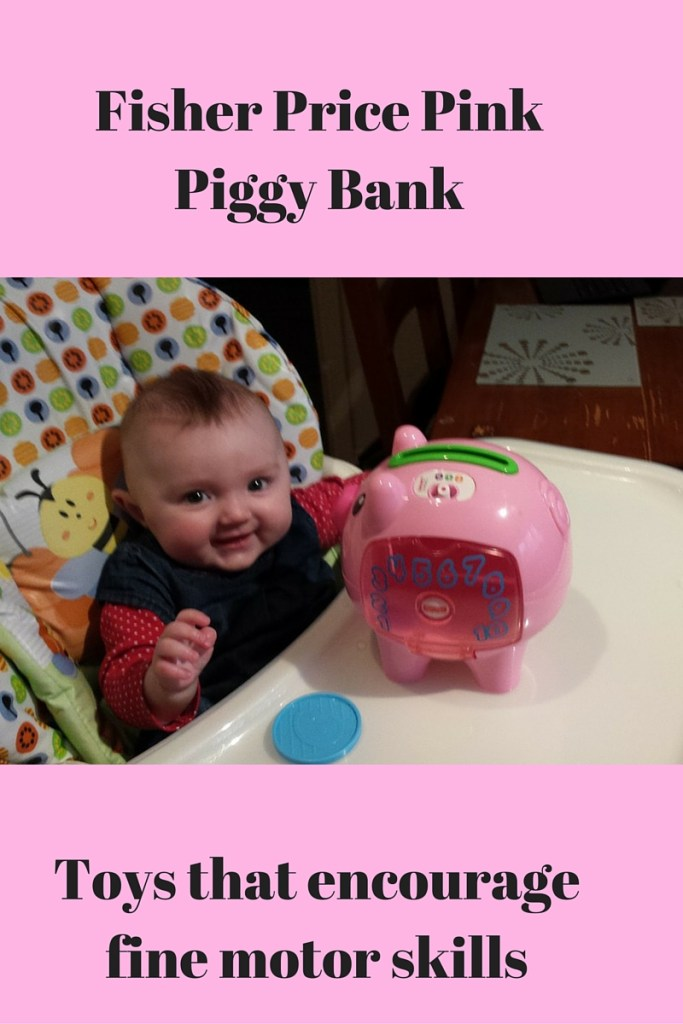 Toys For 1 Month Olds : Fisher price pink piggy bank toy