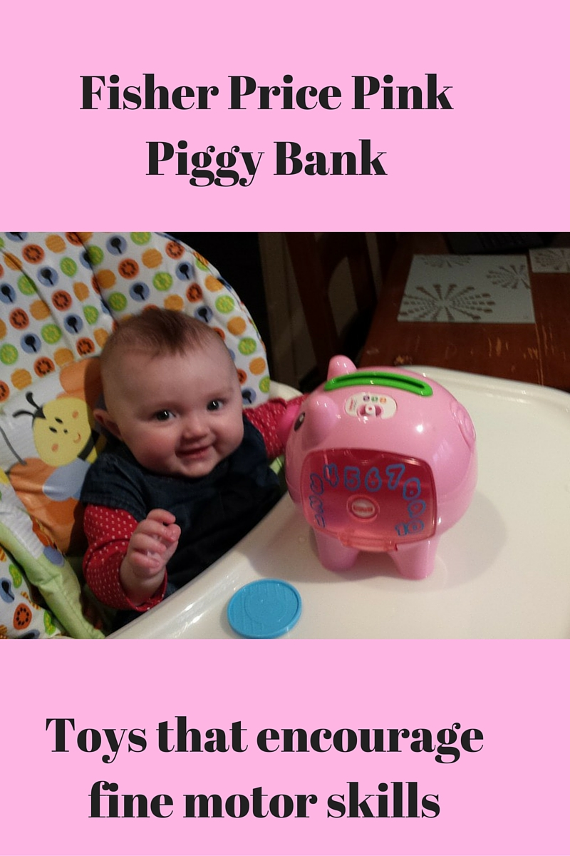 Fisher Price Pink Piggy Bank Toy