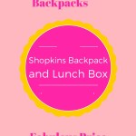 Shopkins Backpack with Lunch Box