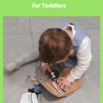 Amelia Playing with Wallet -Free Fine Motor Skills Activities for Toddlers
