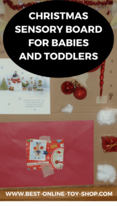 christmas sensory board for babies and toddlers