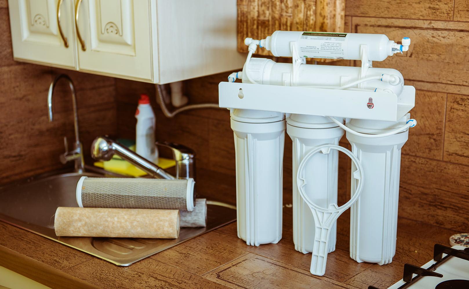 water filter vs water softener