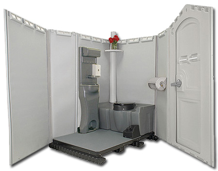 portable toilets with sinks running