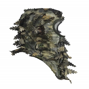Camouflage Leafy 3D Face Mask