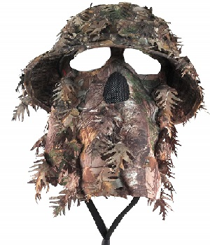 Camouflage 3D Leafy Bucket Hat Hunting Face Mask