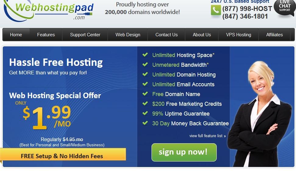 شرح شركة ويب هوستنج باد-webhostingpad.com