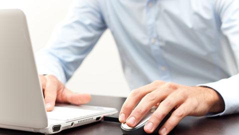 businessman on laptop computer