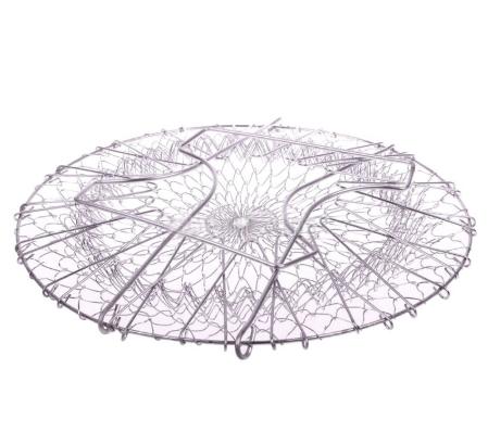 Multifunction Stainless Steel Telescopic Folding Basket chef basket Fried filter drainage rack fruit basket Kitchen Tools