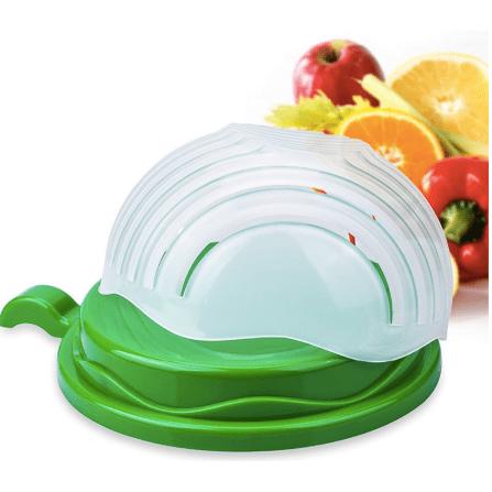 Quick Salad Maker Salad Cutter Bowl Kitchen Gadget Vegetable Fruits Slicer Chopper Washer And Cutter