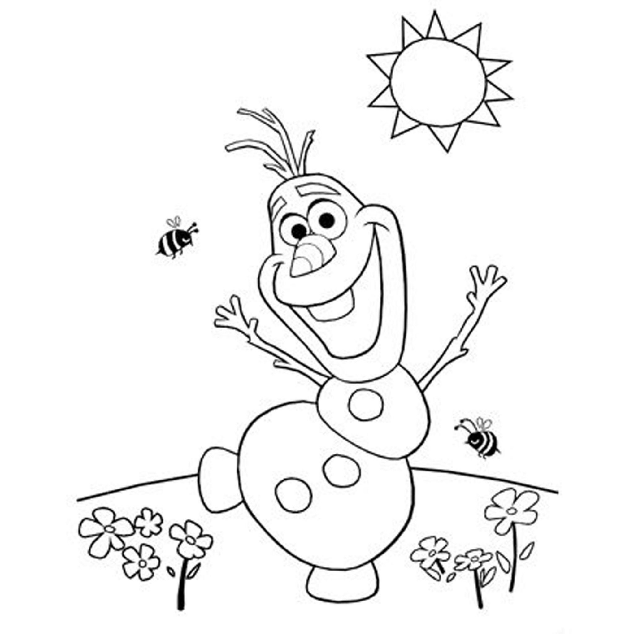 Olaf Frozen Coloring Pages Printable